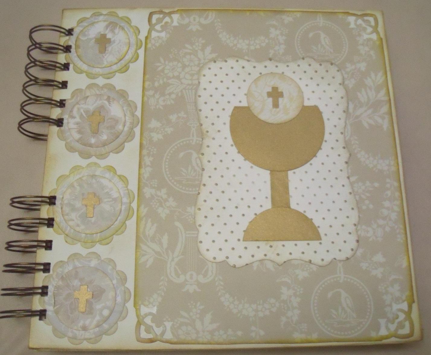 Arte krusay scrapbook album primera comunion - Como hacer tarjetas para comunion ...
