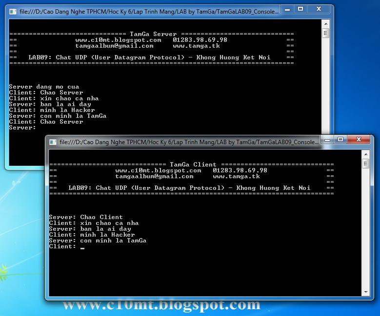 lập trình mạng UDP Console C#