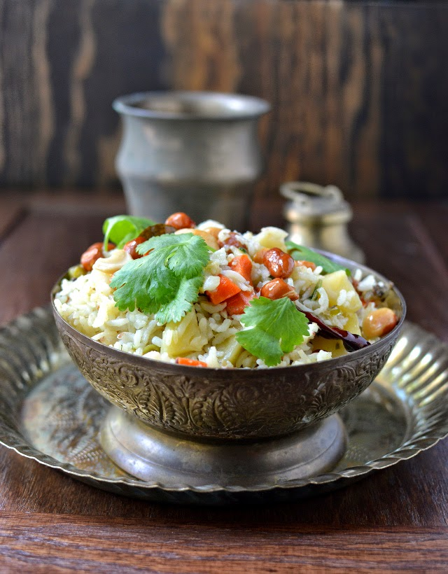 Vegetable Rice for Festivals (Saakannam/ Shakannam)