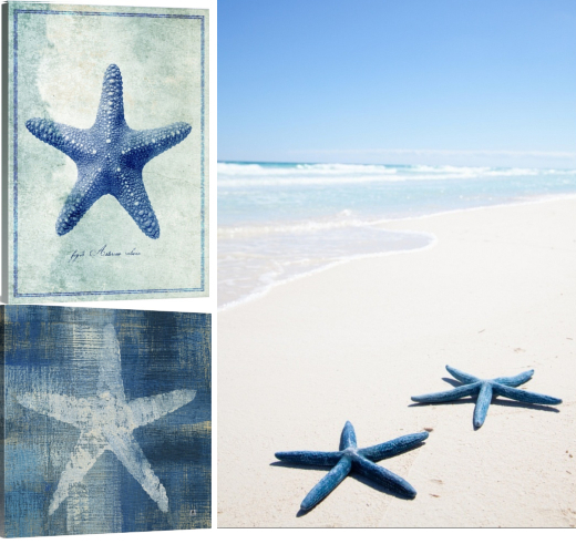 Blue Starfish Art