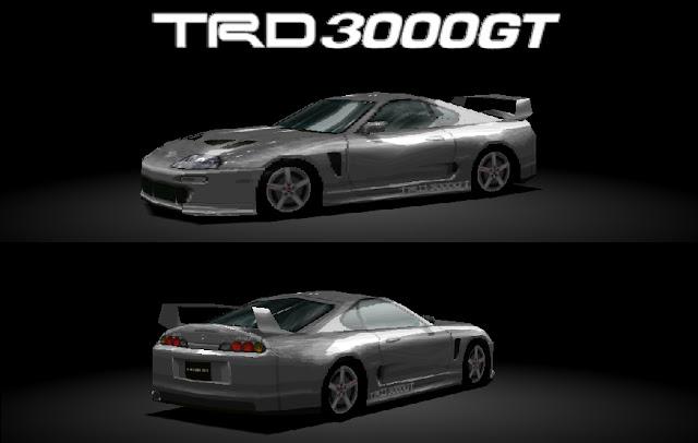 Imagem mostrando o TRD 3000GT no game Gran Turismo 2