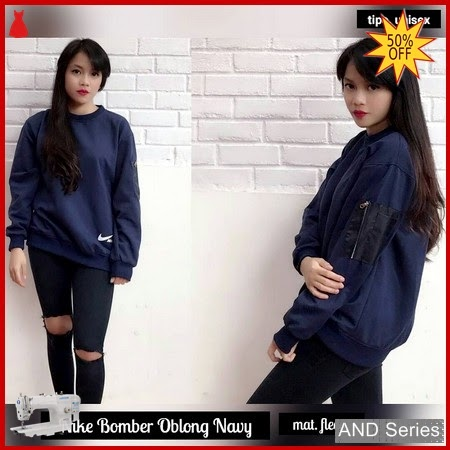 AND335 Sweater Wanita Jaket Nike Bomber Oblong BMGShop