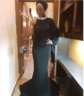 Kate Henshaw Stuns In A Black Gown