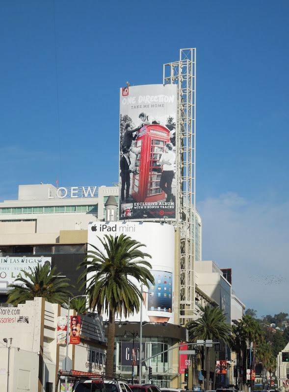 One Direction Take Me Home billboard Hollywood