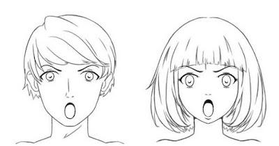 Personnages énervés avec la bouche grande ouverte