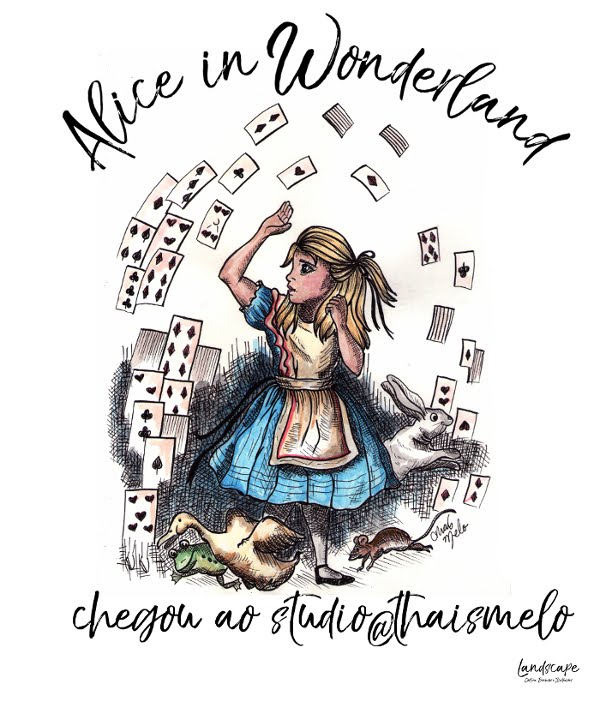 Alice in Wonderland chegou ao studio@thaismelo