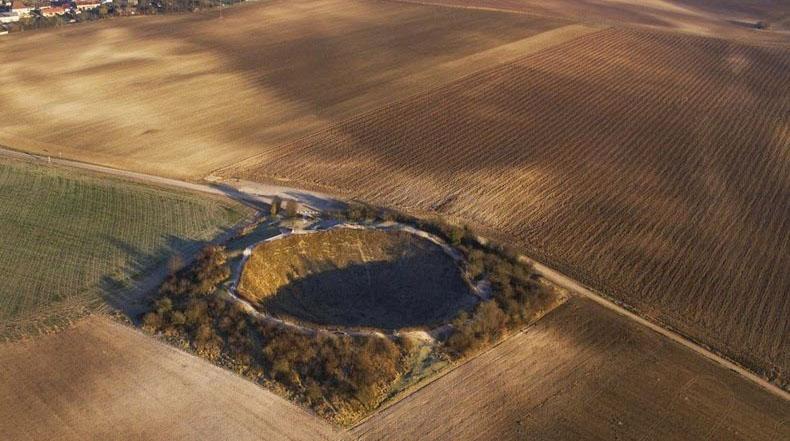 El cráter de la mina de Lochnagar en La Boiselle
