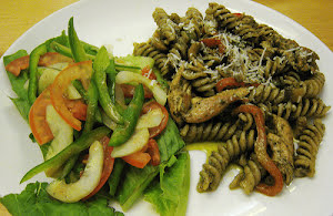 Whole Wheat Fusilli with Chicken and Sage Pesto