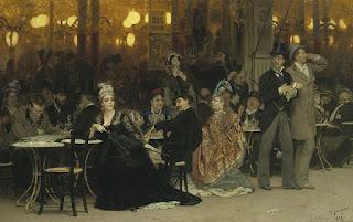 """Илья Репин """"Парижское кафе"""" 1875"""