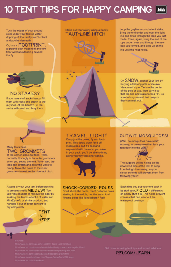 Tent Tips Infographic