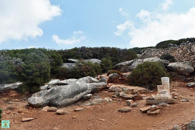 Kouros de Faranghi, isla de Naxos (Grecia)