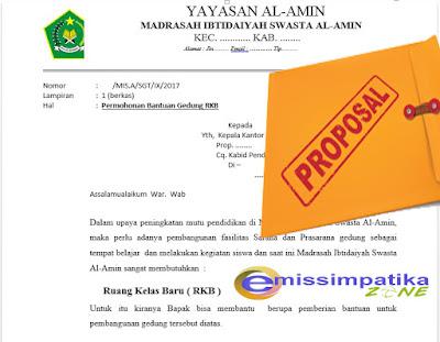 Contoh Proposal Pengajuan RKB Baru, Untuk Kebutuhan SIM SARPRAS