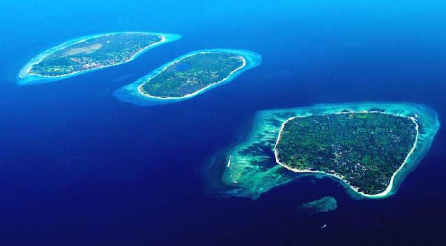 Gili Air, Gili Meno, dan Gili Trawangan di Lombok