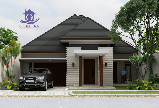 Desain Eksterior Rumah Bapak Priyo di Manado
