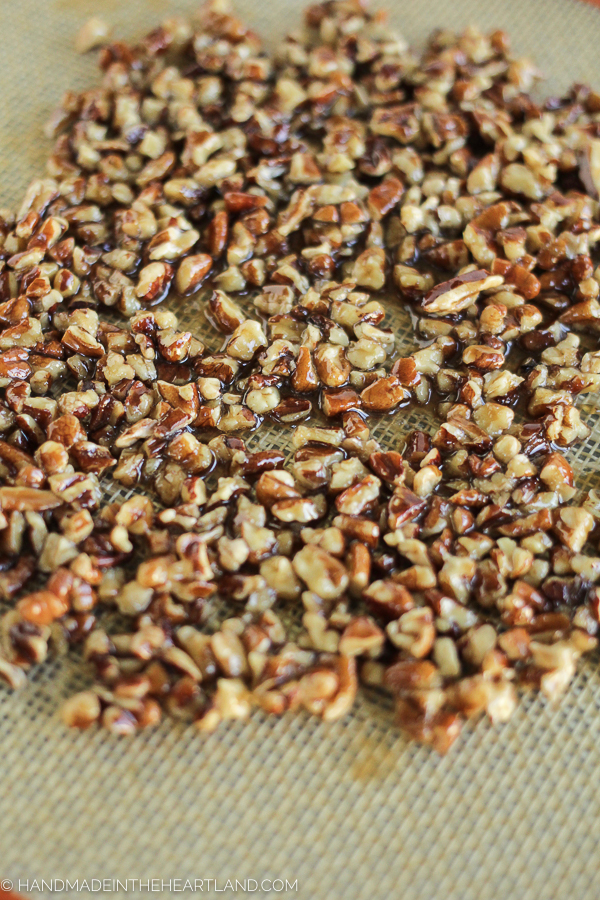 Easy and simple recipe for candied pecans.
