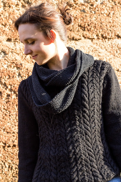 pullover mit zopfmuster selber stricken diy handmade cable knit