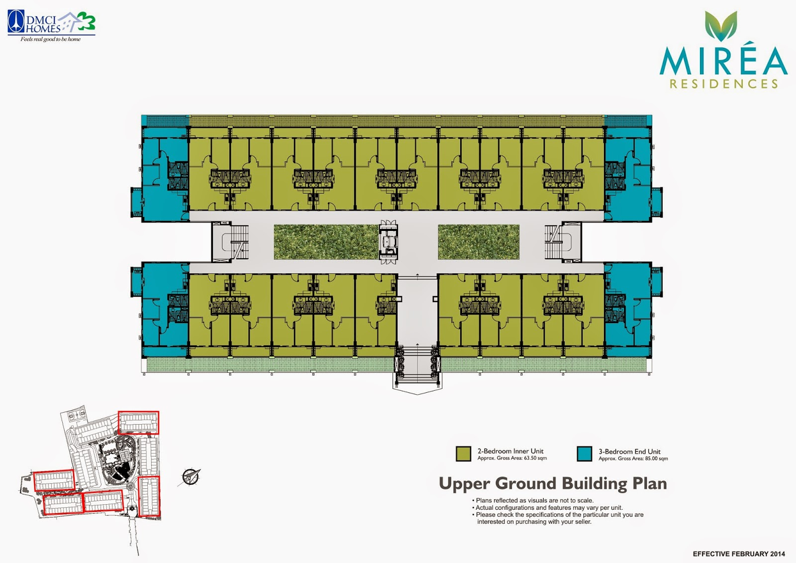 Mirea Residences Garden Atrium Ground Floor Plan