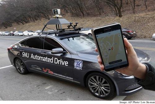Universitas Seoul Uji coba Layanan Uber  Taksi Tanpa Supir