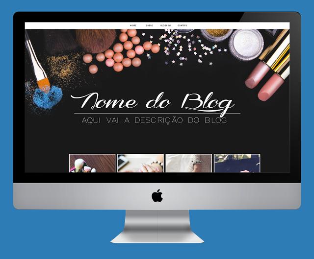 Layout Free para blog feminino de maquiagem