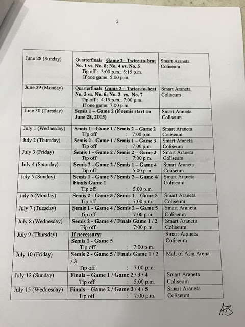 Playoffs Schedules page 2/3