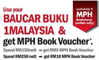 BB1M Baucar Buku 1Malaysia Book Voucher Promotion MPH Bookstore