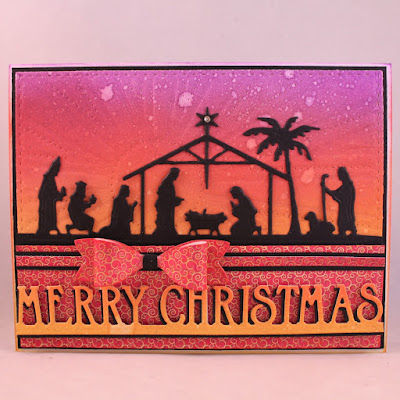 Our Daily Bread Designs Paper Collection: Christmas Collection 2015, Custom Dies: Holy Night, Sunburst Background, Merry Christmas Border, Pierced Rectangles, Small Bow