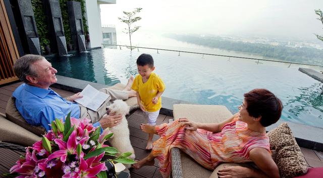 căn hộ sky villa, pool villa, garden villa tại diamond island