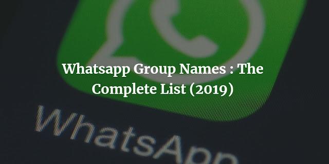 lates whatsapp group names
