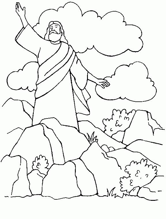 El Renuevo De Jehova: Jesus predicando - Imagenes para colorear ...