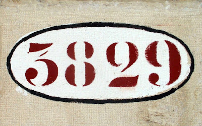A traditional house number, or numero civico, Venice