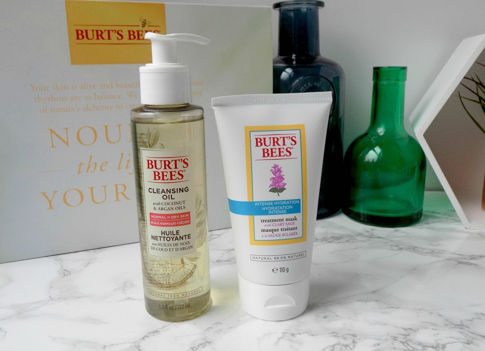 burts bees cleansing oil intense hydration treatment mask review