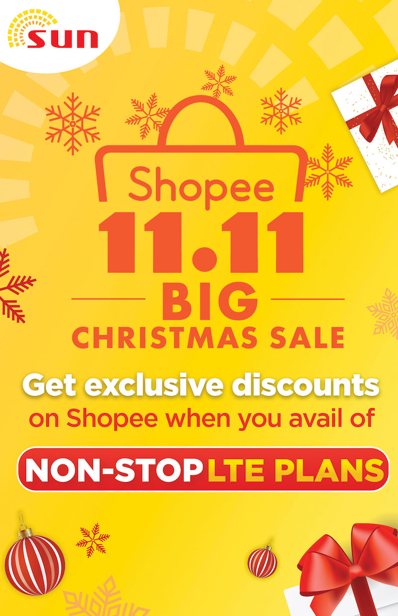 Get up to PHP 300 off with Sun at the Shopee 11.11 Christmas sale!
