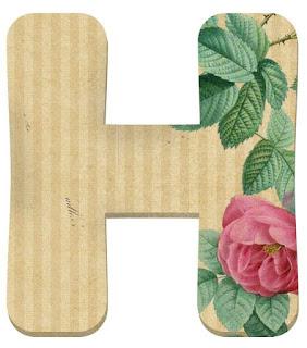 Alfabeto Retro con Flores.