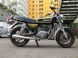 MOTOR RETRO DIJUAL Kawazaki binter mercy 200 tahun 80