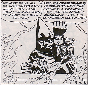Fantastic Four #21, The Hate-Monger, Un-American activities