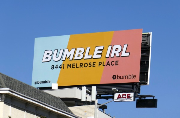 Bumble IRL billboard