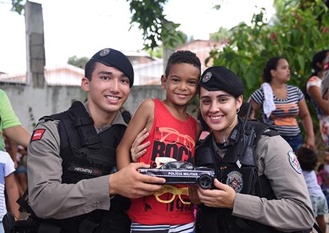 Operação Natal da Criança: Ação social da PM alcança mais de 7 mil crianças em toda a Paraíba