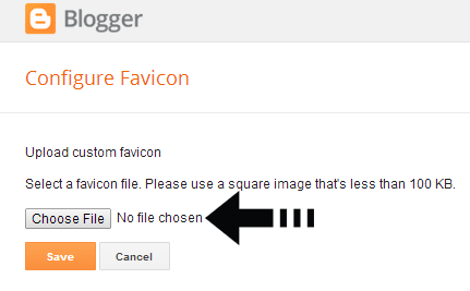 choose favicon