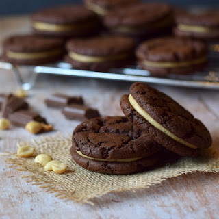 Chocolate & Peanut Butter Sandwich Cookies