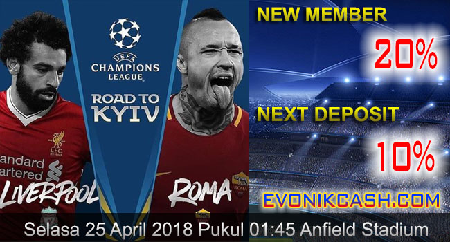 prediksi bola liga champions liverpool vs roma 25 april 2018