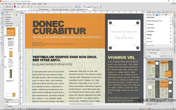 Serif PagePlus X9