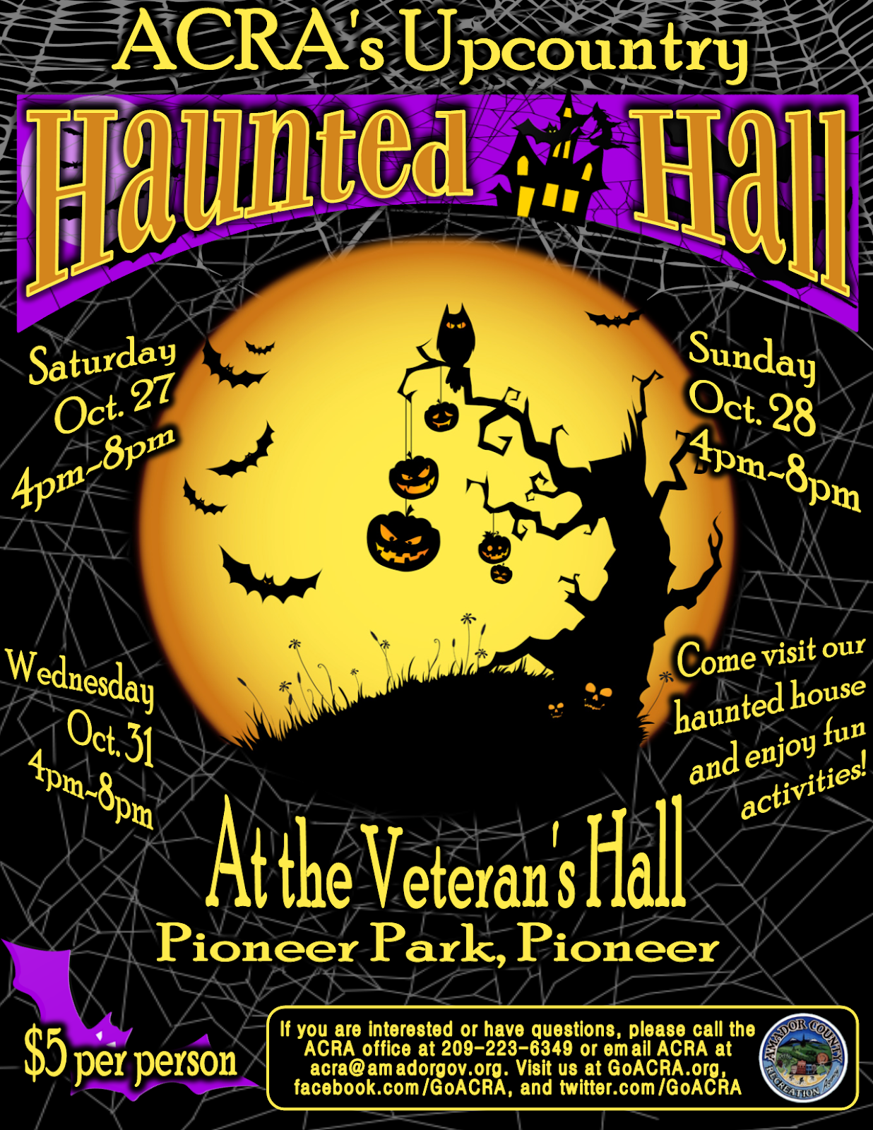 Haunted Hall - Oct 27, 28 & 31