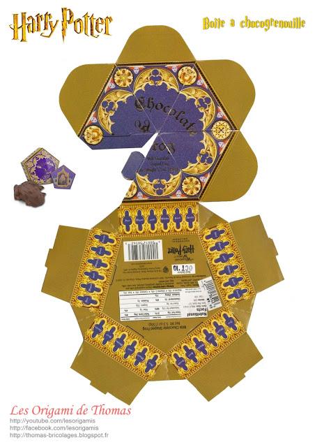 Template boite chocogrenouille en Papercraft