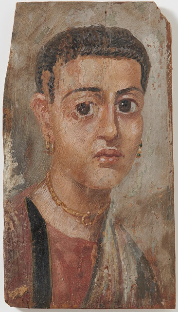 Two Egyptian mummy portraits restored