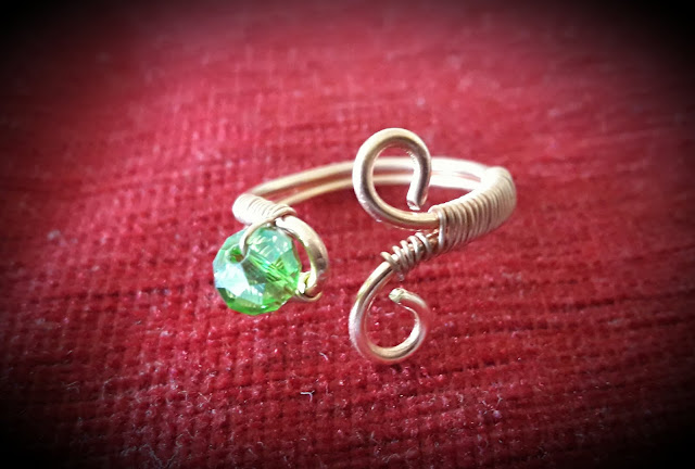 Copper Rings, Copper Wire Bead Rings