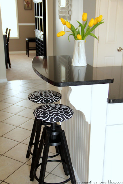 DIY Fabric Barstool Covers from Ikea