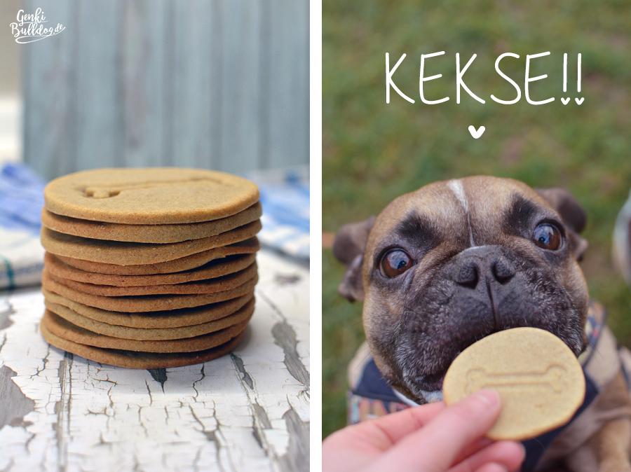 Hundekekse selbst backen Rezept für Rind-Kartoffel Kekse für Hunde