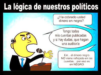 POLÍTICO CORRUPTO Y EL DINERO EN NEGRO QUE NO ESTÁ EN CUENTAS PUBLICADAS