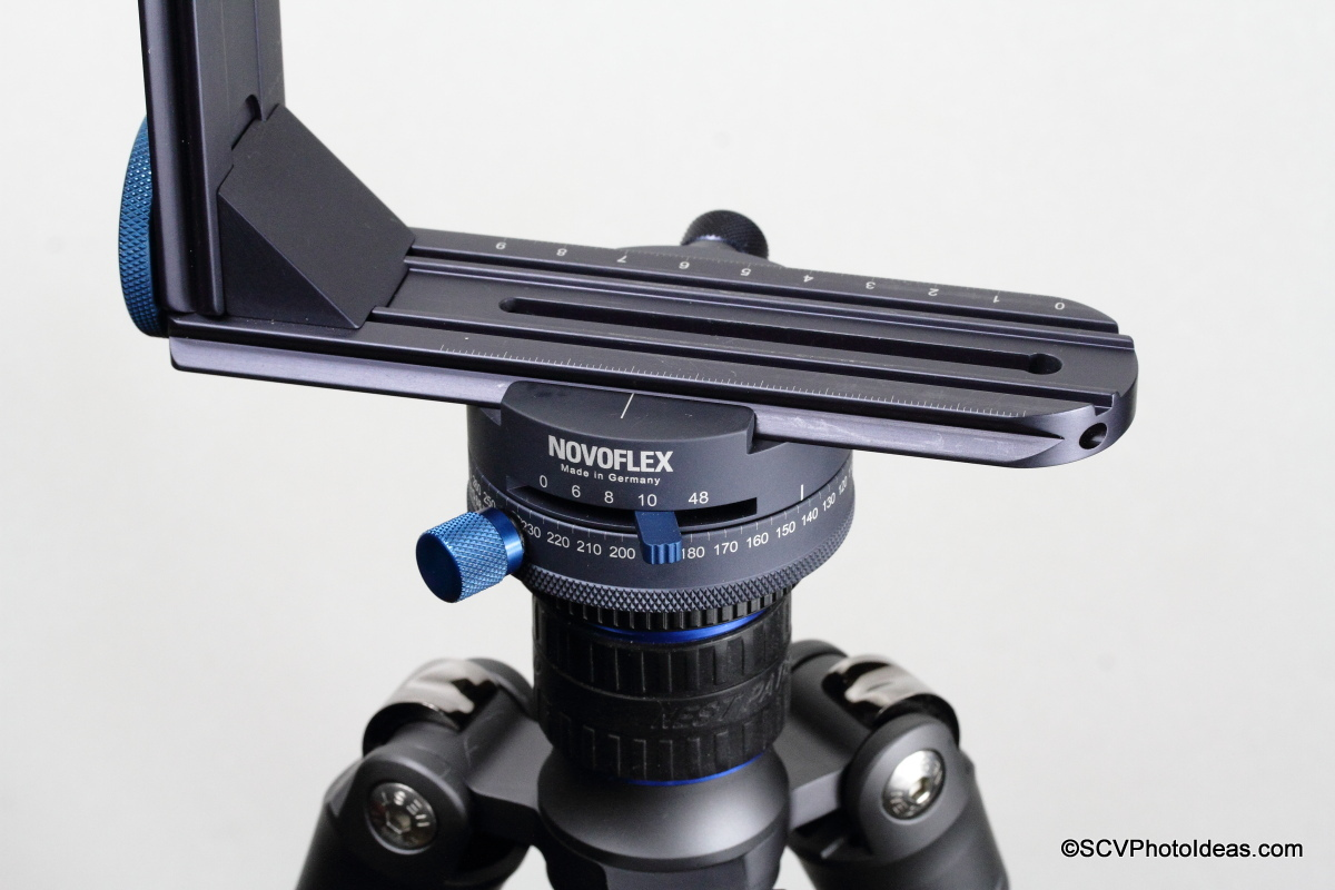 Novoflex Panorama=Q 6/8 II with VR System-Slim stop interval selection