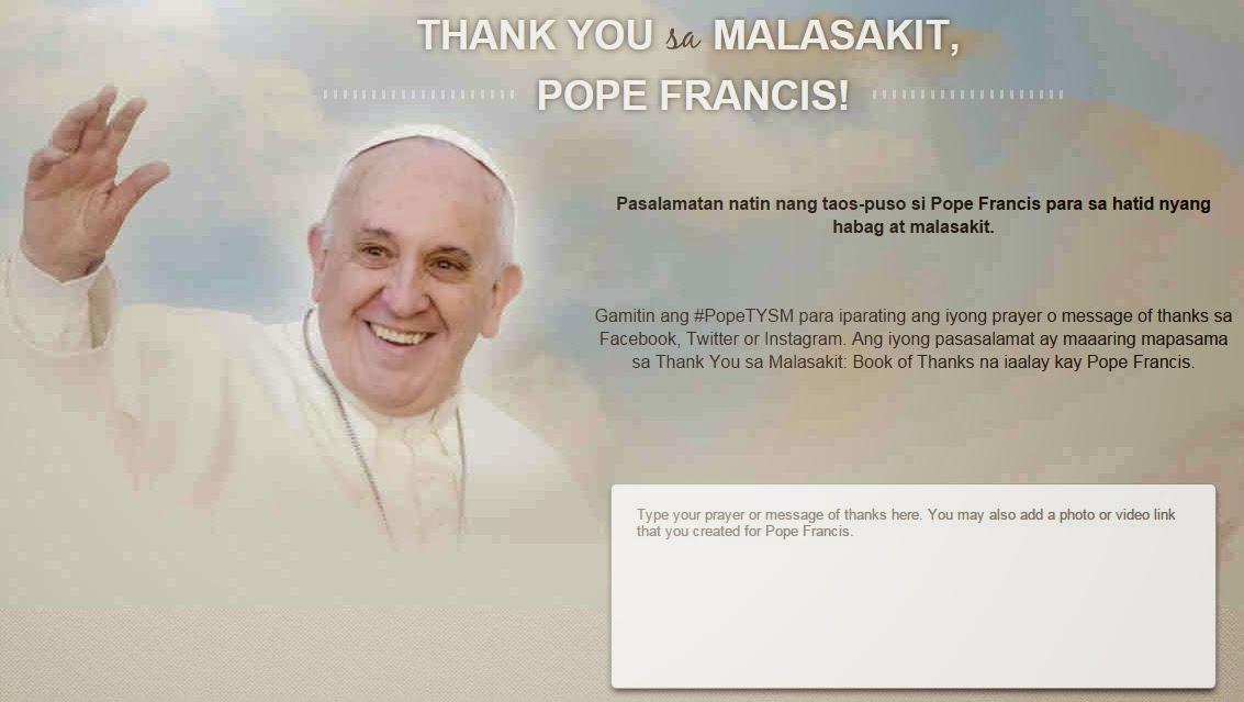 how to send message to Pope Francis